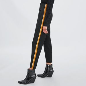 NWT Zara Size L Side Stripe High Waist Pants